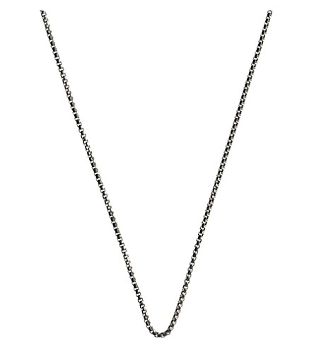LINKS OF LONDON Soho silver box chain necklace