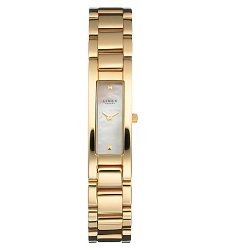 LINKS OF LONDON 6010.0168 Selene gold-plated watch (Gold