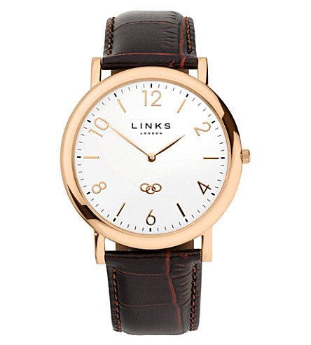 LINKS OF LONDON Noble classic gold-plated stainless steel watch