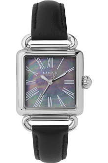 LINKS OF LONDON Driver silver-plated and leather watch