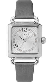 LINKS OF LONDON Driver silver-plated and satin watch