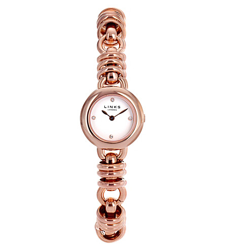 LINKS OF LONDON 6010.0445 Sweetie 18ct rose gold-plated watch (Rose+gold