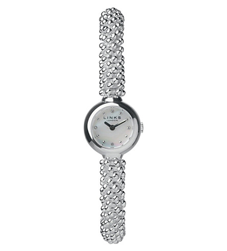 LINKS OF LONDON 6010.0601 Effervescence Star silver-plated sapphire watch (Silver