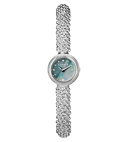 LINKS OF LONDON Effervescence Star silver-plated sapphire watch (Silver