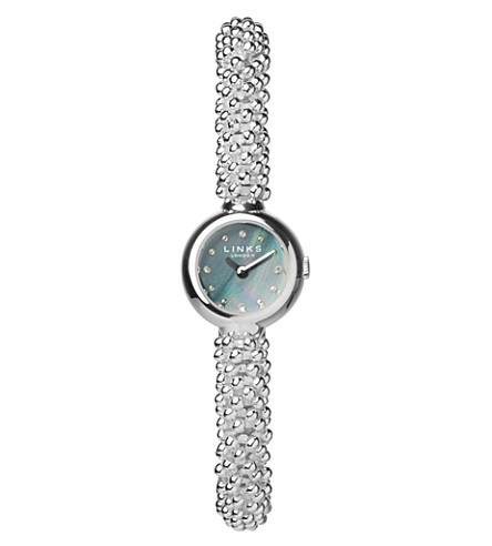 LINKS OF LONDON Effervescence silver-plated watch