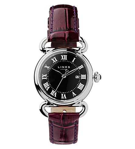 LINKS OF LONDON Driver stainless steel watch (Purple