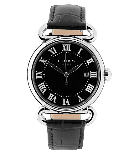 LINKS OF LONDON Driver stainless steel watch (Black