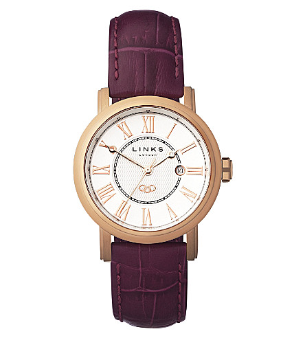 LINKS OF LONDON Richmond stainless steel rose gold-plated watch