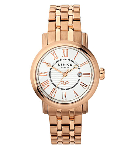 LINKS OF LONDON Richmond stainless steel rose gold-plated watch (White