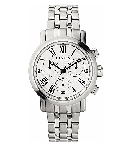 LINKS OF LONDON Richmond stainless steel white dial watch (White