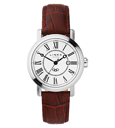 LINKS OF LONDON Richmond stainless steel watch (White