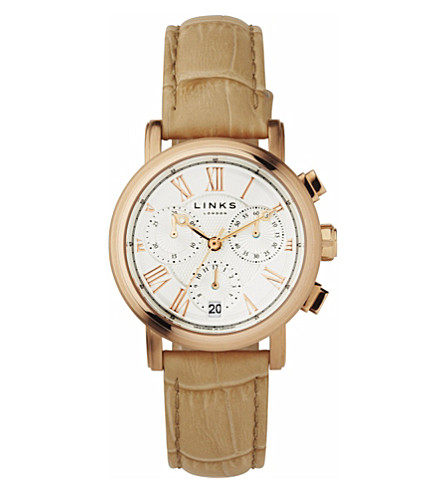 LINKS OF LONDON Richmond rose gold-plated watch