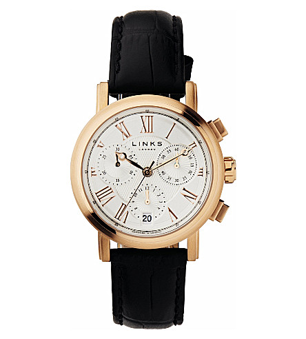 LINKS OF LONDON Richmond rose gold-plated watch (White