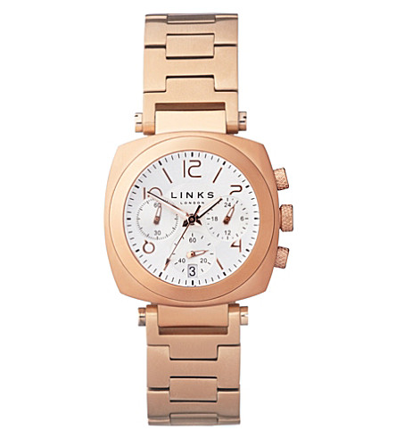 LINKS OF LONDON Brompton rose gold-plated chronograph watch (Rose+gold