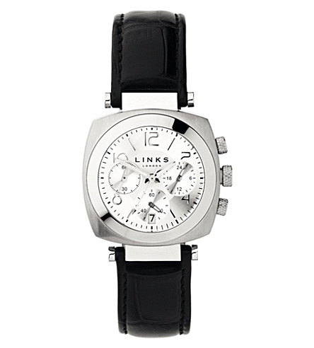 LINKS OF LONDON Brompton leather bracelet chronograph watch