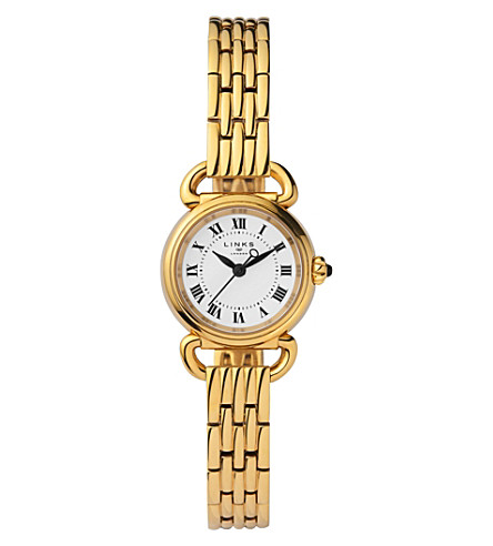 LINKS OF LONDON 6010.2173 Driver Mini gold-plated stainless steel watch (Gold