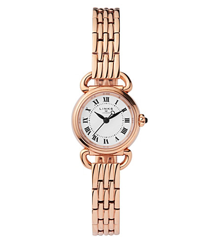 LINKS OF LONDON 6010.2174 Driver Mini rose gold-plated stainless steel watch (Rose+gold