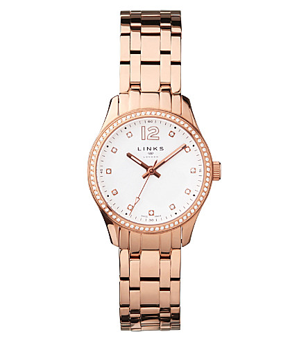 LINKS OF LONDON Greenwich Noon rose gold-toned bracelet watch (Rose+gold