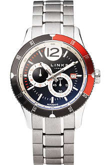 LINKS OF LONDON Chicane stainless steel chronograph watch