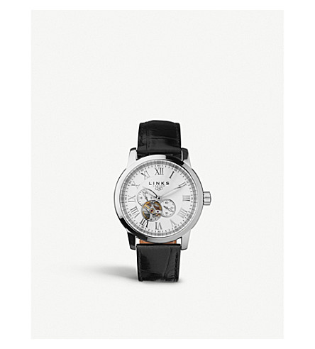 LINKS OF LONDON 6020.1054 Noble Roman stainless steel and leather watch