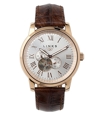 LINKS OF LONDON Noble rose gold-plated watch (Brown