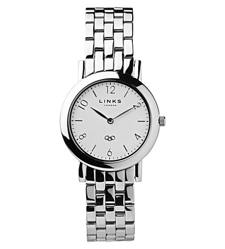 LINKS OF LONDON Noble slim stainless steel watch (Silver