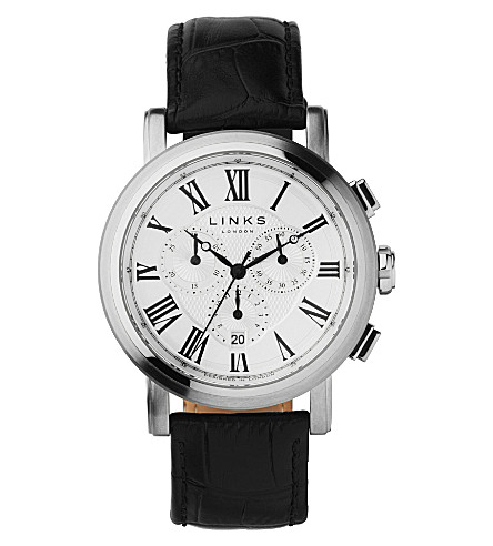 LINKS OF LONDON Richmond silver-plated chronograph watch (White