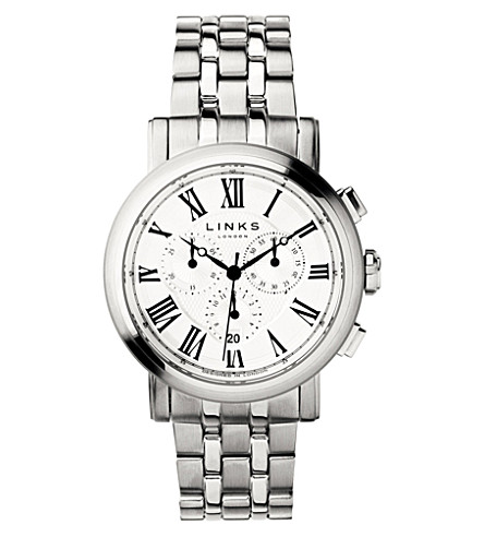 LINKS OF LONDON Richmond stainless steel white dial watch