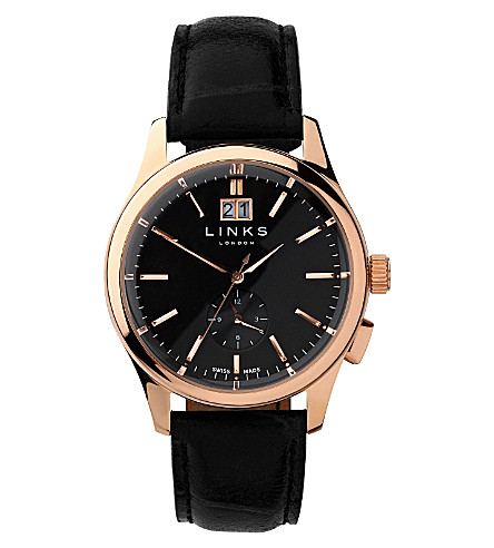 LINKS OF LONDON Regent rose gold-plated watch (Rose+gold
