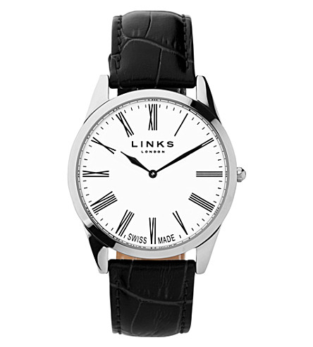 LINKS OF LONDON Noble stainless steel and leather (Black