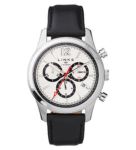 LINKS OF LONDON Greenwich Noon chronograph stainless steel watch (Black