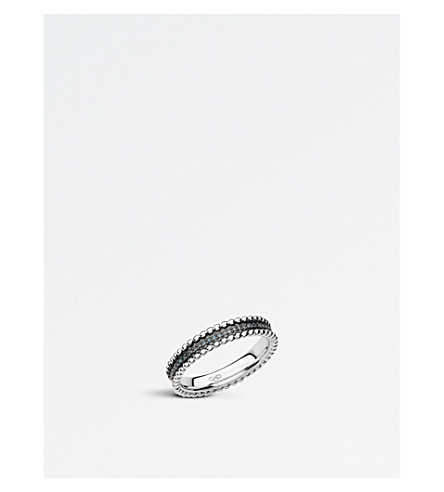 LINKS OF LONDON Effervescence sterling silver and diamond band ring