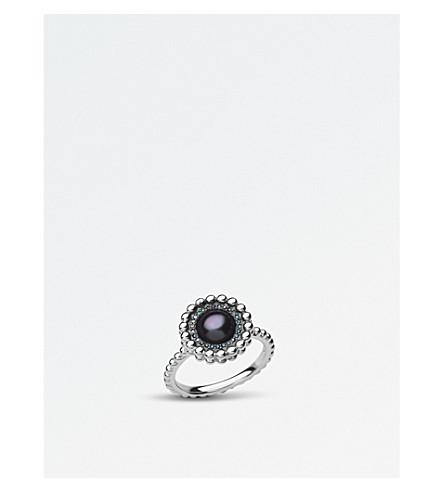 LINKS OF LONDON 泡纯银、钻石和珍珠戒指