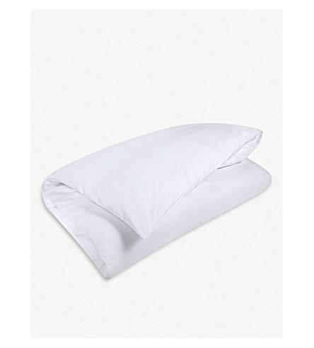 CALVIN KLEIN Miranda cotton double duvet cover 200x200cm (White