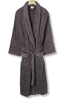 CK HOME Cotton robe charcoal
