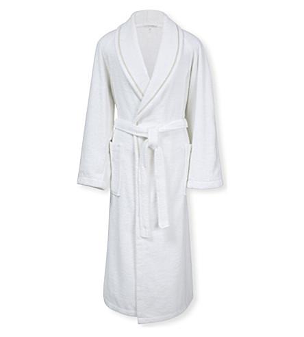 CALVIN KLEIN Dolmite cotton bath robe (White