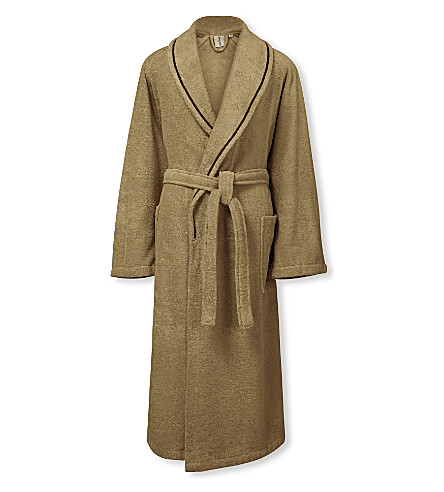 CALVIN KLEIN Dolmite cotton bath robe (Fawn