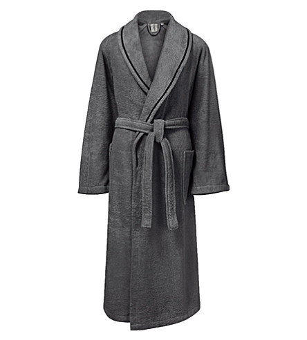 CALVIN KLEIN Dolmite cotton bath robe (Charcoal