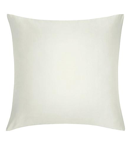 CALVIN KLEIN 缎棉方形枕套 (乳霜