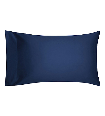 CALVIN KLEIN Satin standard pillowcase 50cm x 75cm (Navy