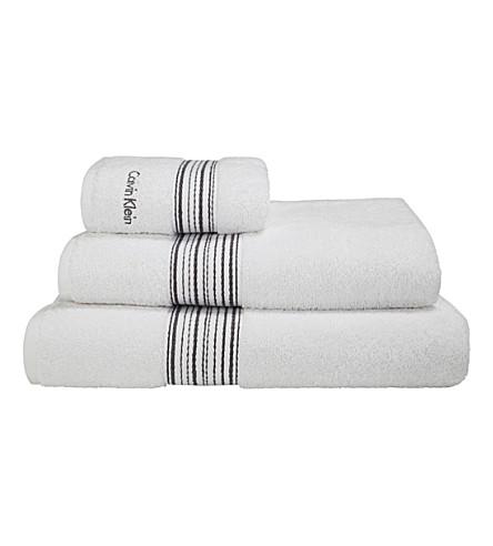 CALVIN KLEIN Riviera towel (White