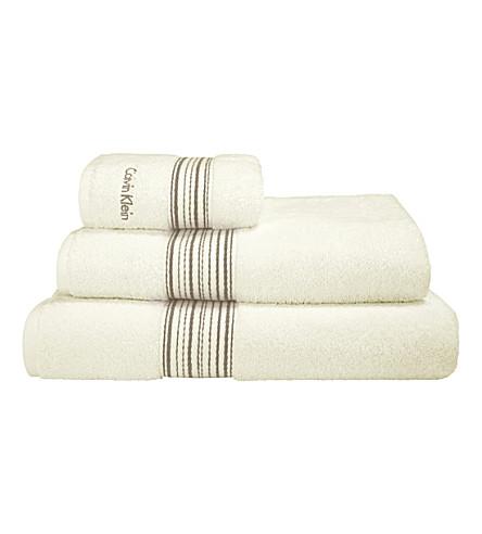 CALVIN KLEIN Riviera towel (Cream