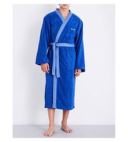 CALVIN KLEIN Riviera bath robe (Cobalt