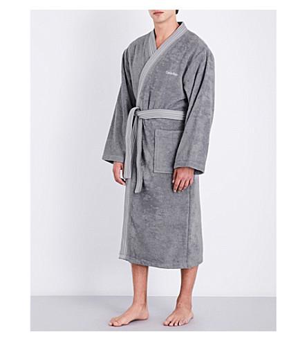 CALVIN KLEIN Riviera bath robe (Charcoal