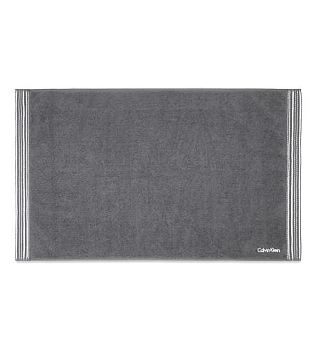 CALVIN KLEIN Riviera bath mat (Charcoal