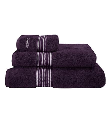 CALVIN KLEIN Riviera towel (Plum