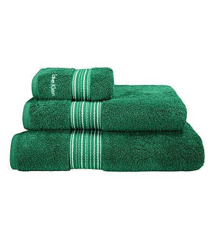 CALVIN KLEIN Riviera towel (Emerald