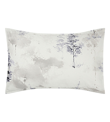 CALVIN KLEIN Alpine Meadow cotton sateen standard pillowcase