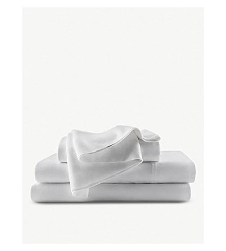 CALVIN KLEIN Modern Cotton single fitted sheet 200x90cm (White