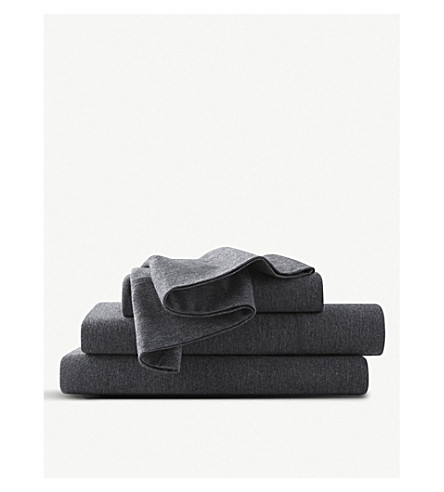 CALVIN KLEIN Modern cotton-blend king flat sheet (Charcoal